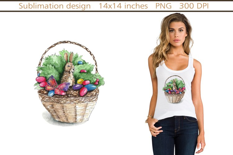 easter bunny sublimation,Easter Egg sublimation example image 1
