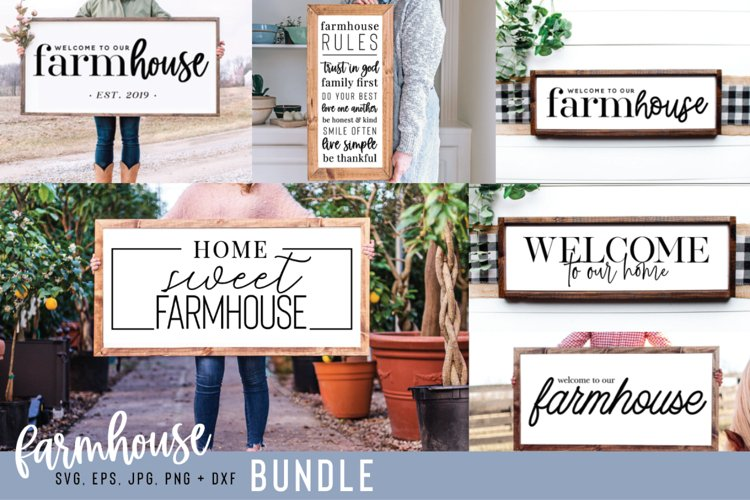 Farmhouse SVG Bundle, 6 Designs, 30 Cut Files
