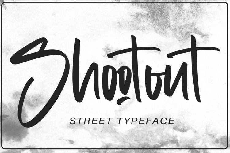 Shootout - Street Typeface example image 1