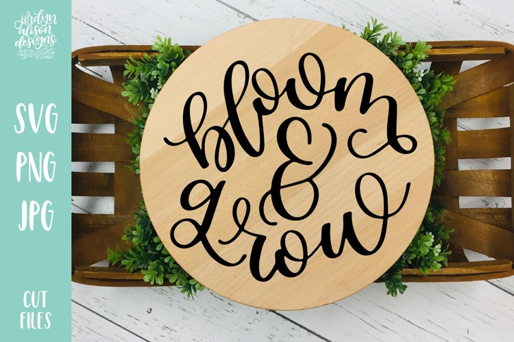 Bloom and Grow, Spring Garden SVG Cut File