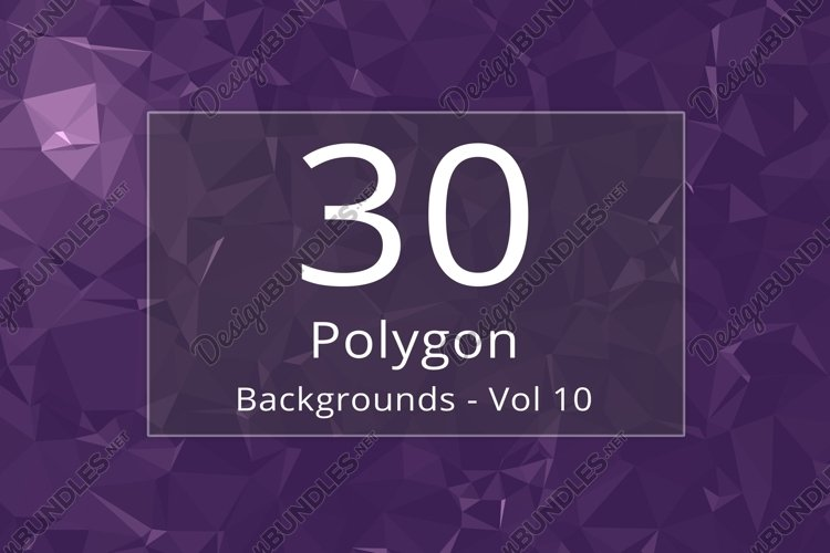 30 Polygon Backgrounds - Vol 10 example image 1