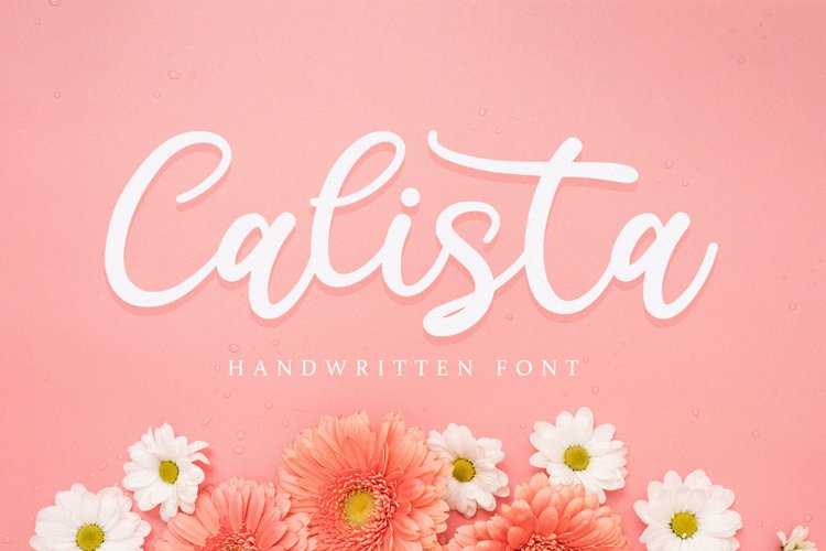 Calista - Handwritten Font example image 1