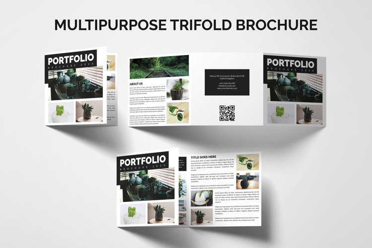 Multipurpose Trifold Brochure Template | Portfolio Brochure example image 1