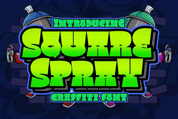 Square Spray Graffiti Font example image 1