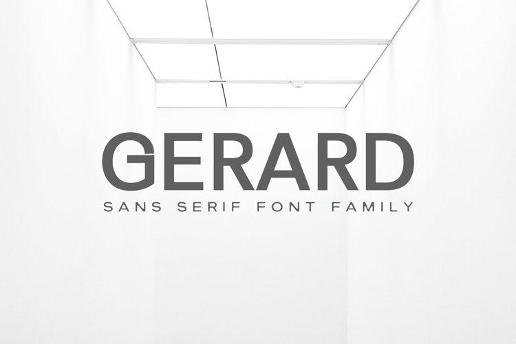 Gerard Sans Serif Font Family example image 1