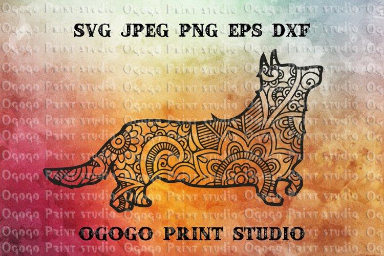 Corgi svg, Mandala svg, Zentangle SVG, Dog SVG