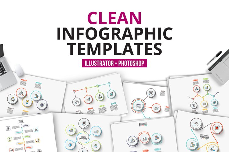 Clean infographic templates example image 1
