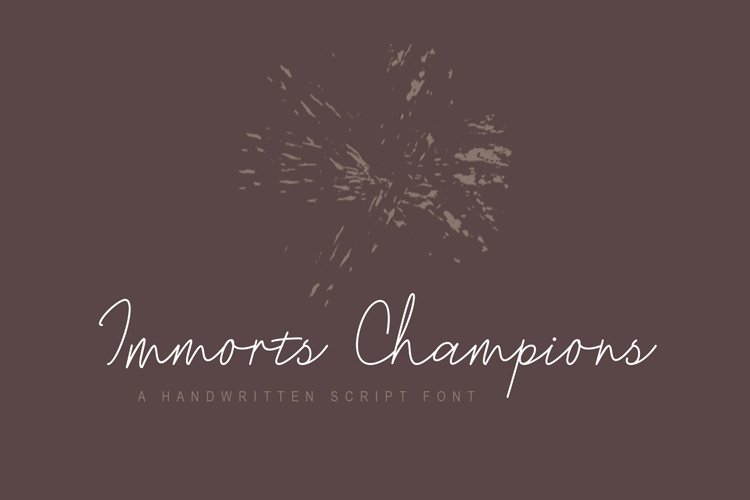 Immorts Champions - Script Font example image 1