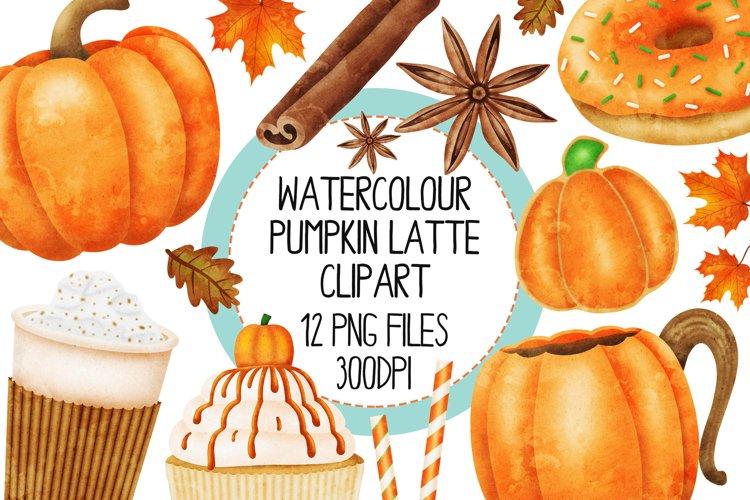 Watercolor Pumpkin Spice Clip Art Set 1