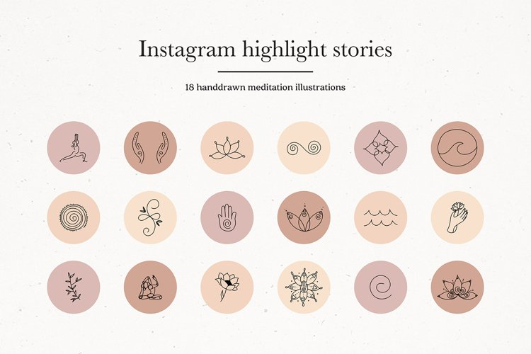 Instagram Meditation Yoga Story Highlights Icons Covers example image 1
