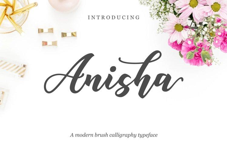 Anisha Script example image 1
