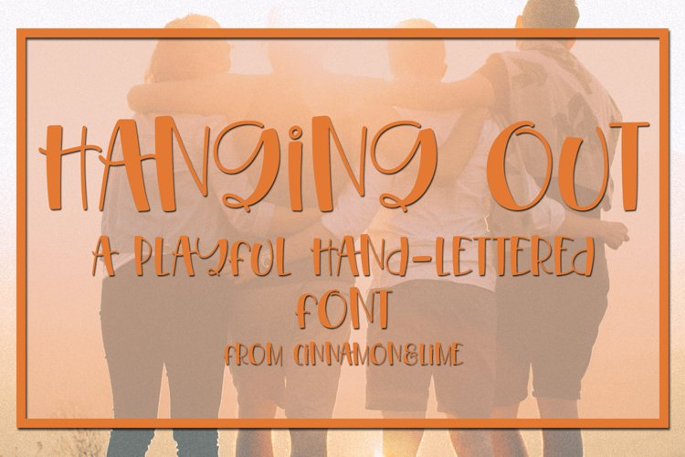 Hanging Out - A Playful Hand-Lettered Font example image 1