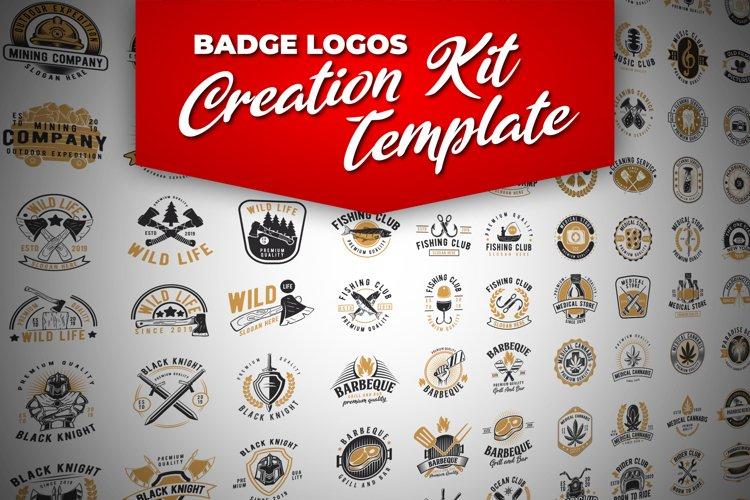 100 Retro Badge Logos Creation Kit