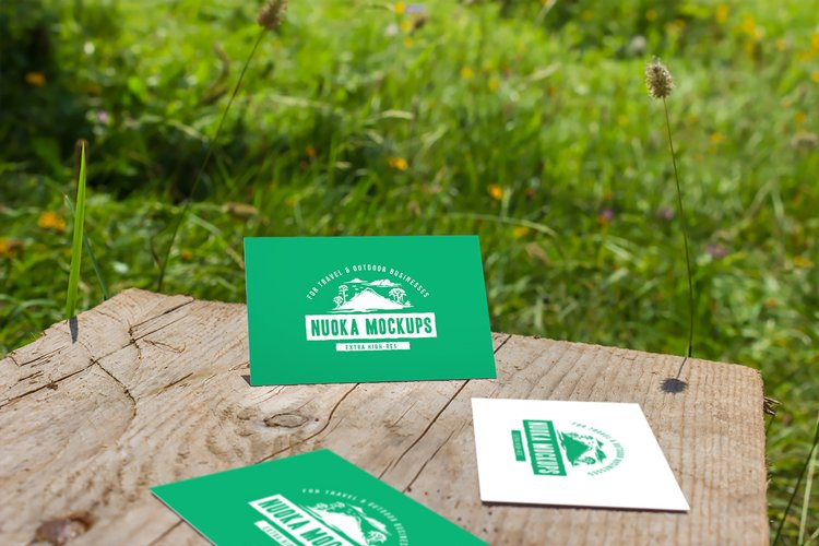Business cards mockup 08 | Travel Mockup Collection Set 1 example image 1
