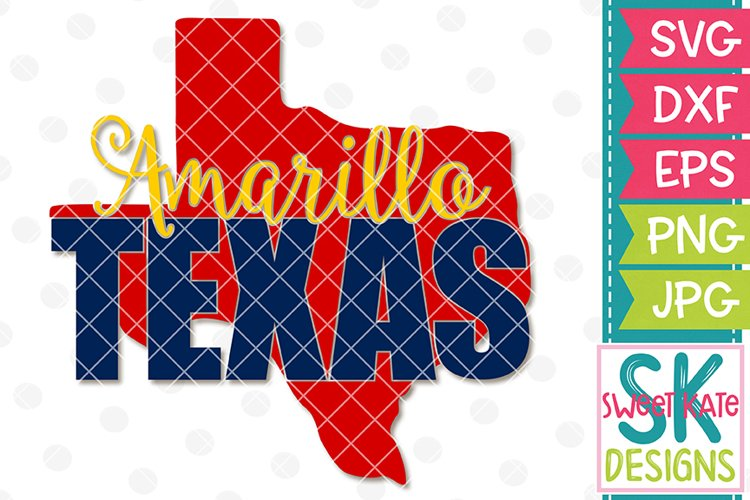 Amarillo Texas SVG DXF EPS PNG JPG