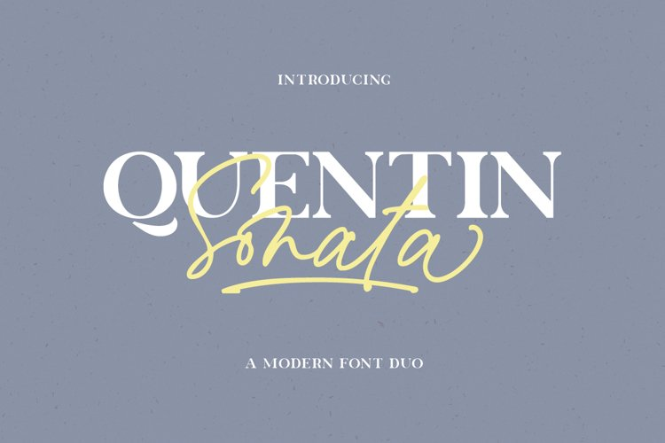 Quentin Sonata - Font Duo example image 1