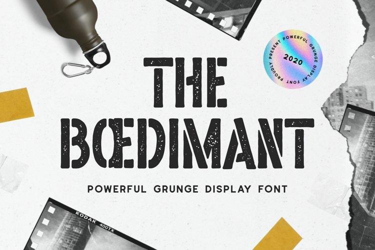 Boedimant - Grunge Display Font example image 1
