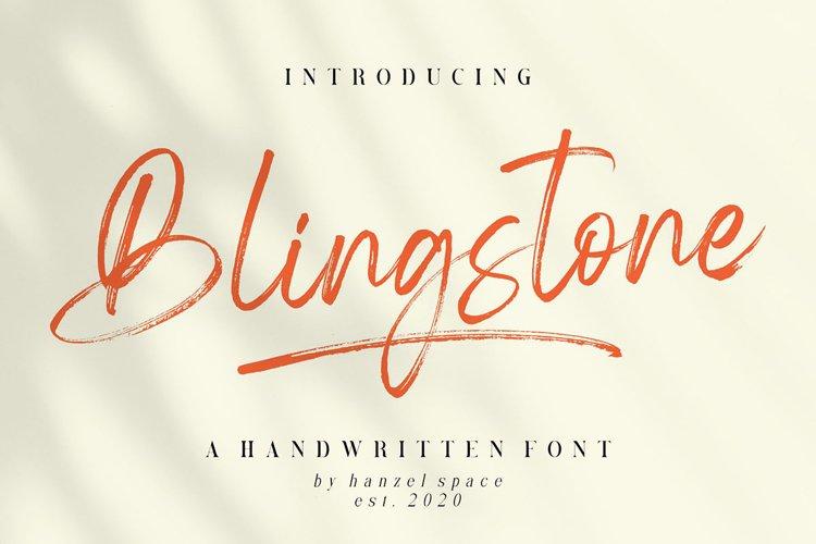 Blingstone - Handwritten Font example image 1