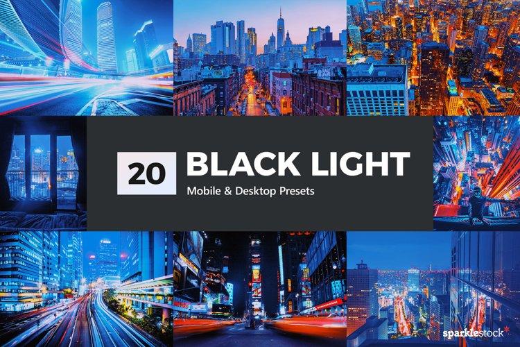 20 Black Light Lightroom Presets & LUTs example image 1