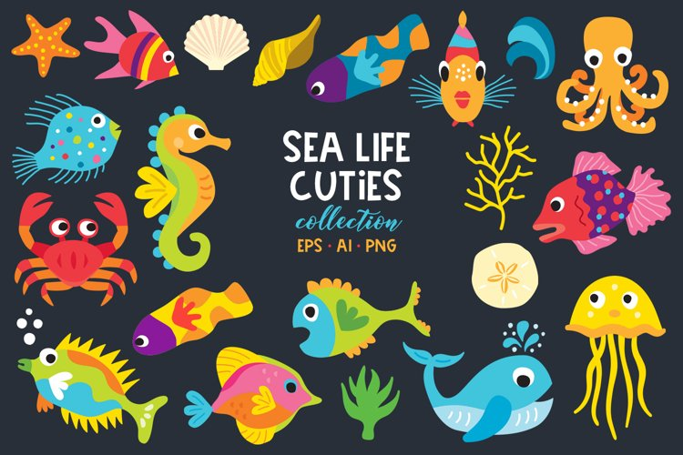 SeaLife Cuties Illustration Collection example image 1
