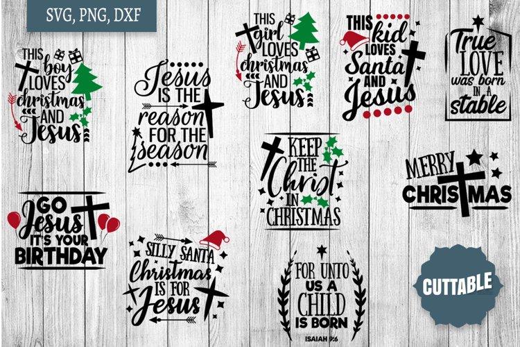 Jesus Christmas SVG Bundle, Christian Christmas cut files