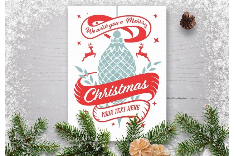 Winter holidays greeting card example image 1