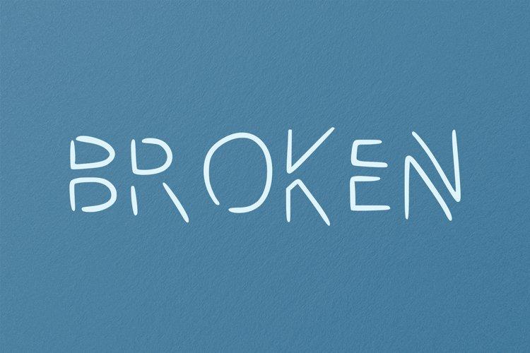 Broken handwritten font in ttf, otf example image 1