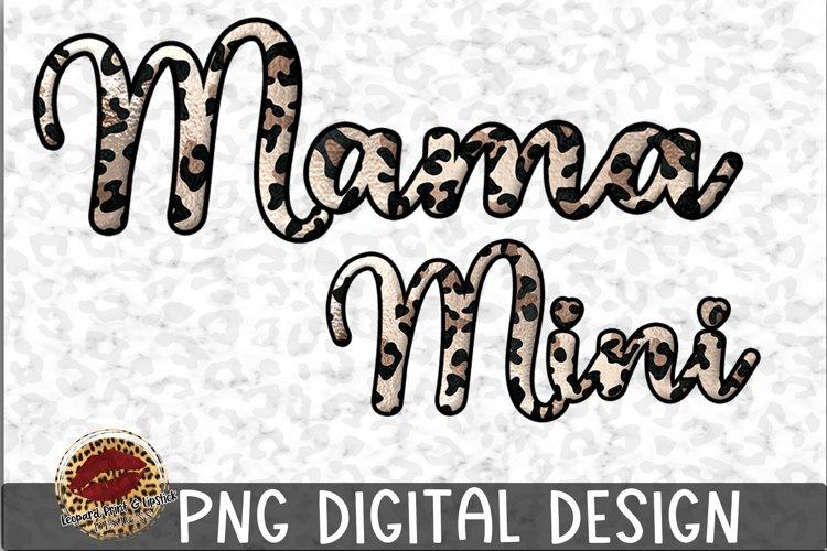 Sublimation Mama and Mini Leopard Design example image 1