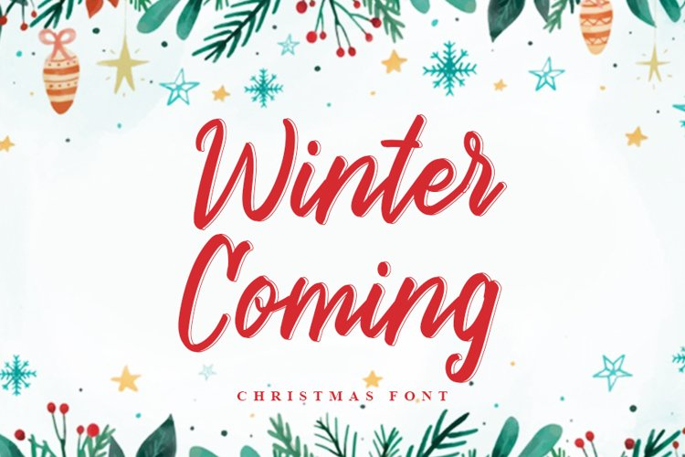 Winter Coming | Beautiful Christmas Font example image 1
