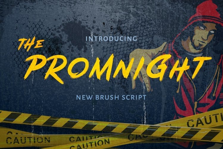Web Font The Promnight example image 1