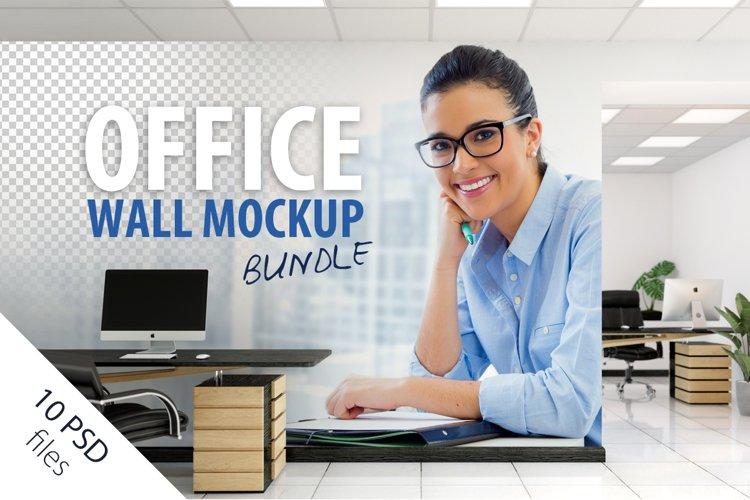 OFFICE Wall Mockup Bundle example image 1