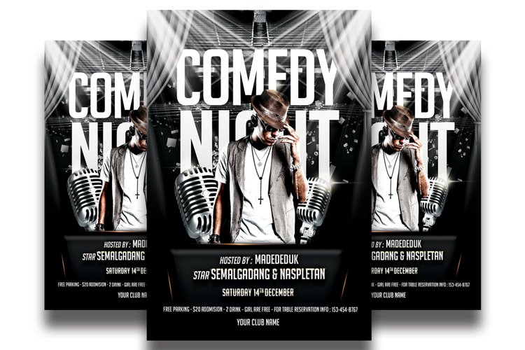 Comedy Show Flyer Template example image 1