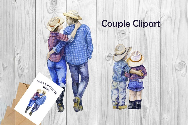 Cute Love Clipart Couple Clipart Valentine png Western png example image 1