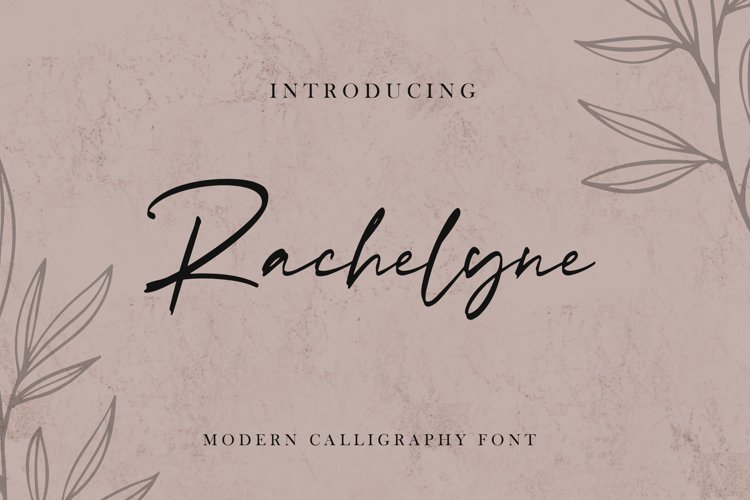 Rachelyne - Modern Calligraphy Font example image 1