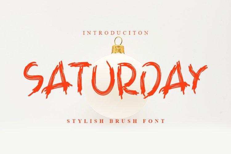 Saturday - Stylish Brush Font example image 1