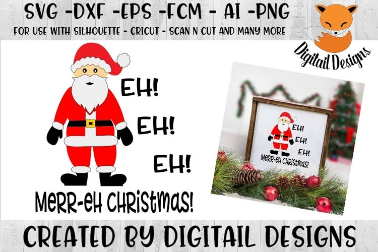Funny Canadian Christmas SVG for Silhouette, Cricut example image 1