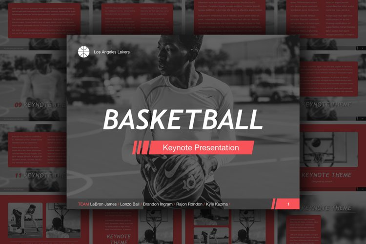 Basketball Keynote Template example image 1