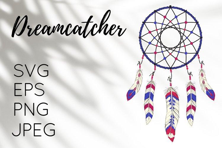 Boho illustration of Dreamcatcher - PNG, JPG, EPS, SVG example image 1