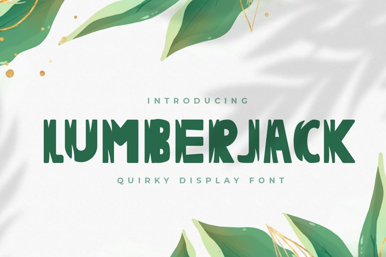 Lumberjack - Quirky Display Font example image 1
