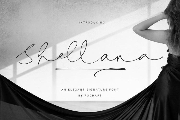 Shellana || Elegant Signature Font example image 1