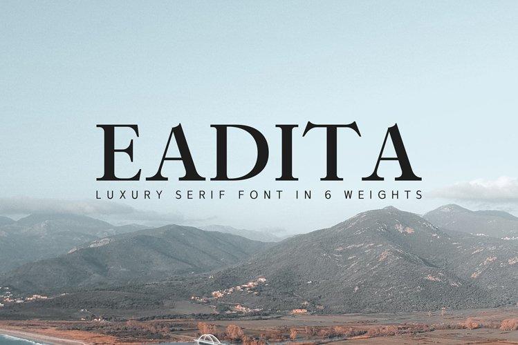 Eadita Luxury Serif Font Family example image 1