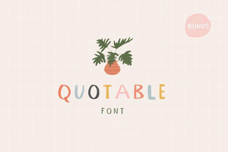 Quotable Font   SVG Color Font