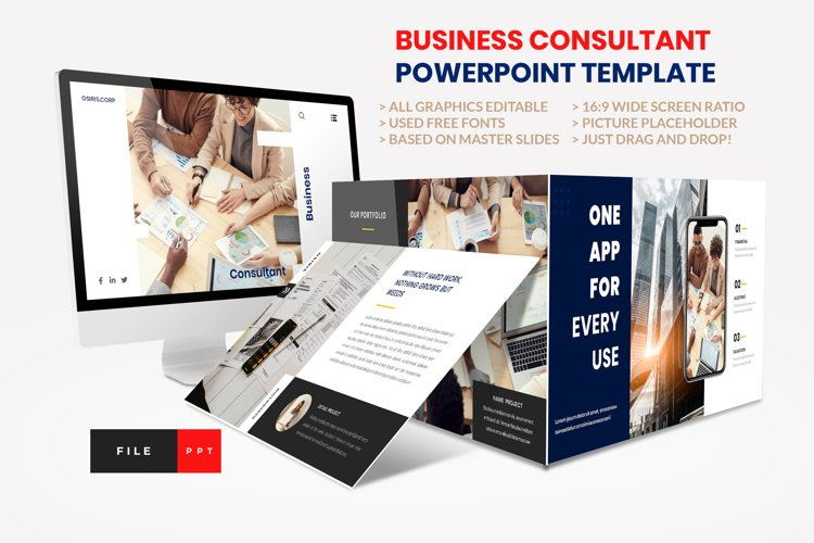 Business - Consultant Finance PowerPoint Template example image 1