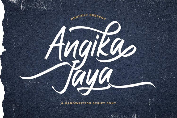 Angika Jaya - Handwritten Font example image 1