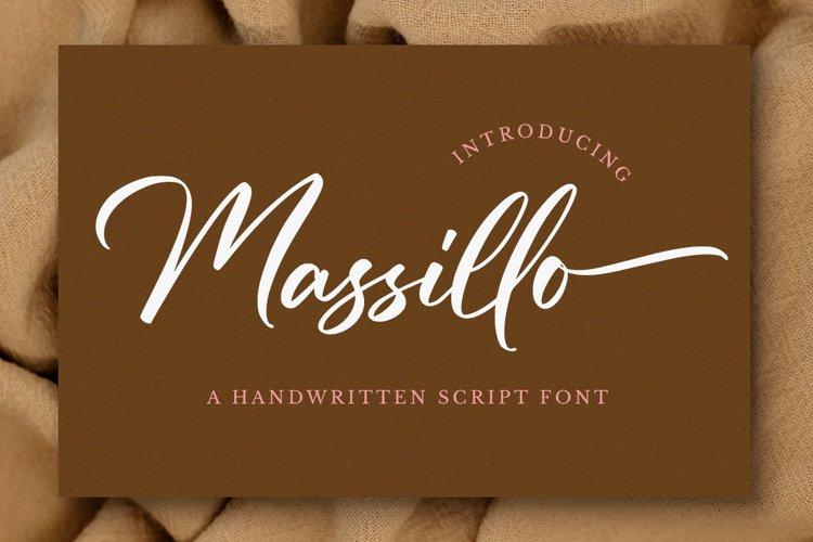 Massillo // Elegant Script Font example image 1