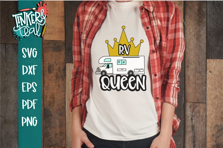 RV Queen Camping SVG example image 1