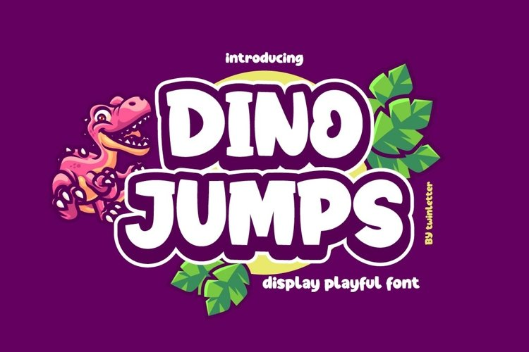 Dino Jumps Display Playful Font example image 1