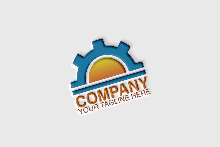 Gear Sun Logo Template example image 1