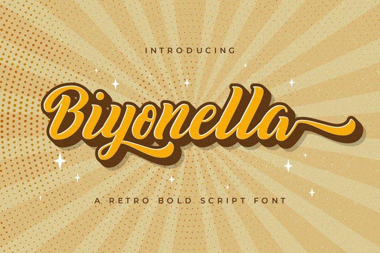 Biyonella - Retro Bold Script Font example image 1