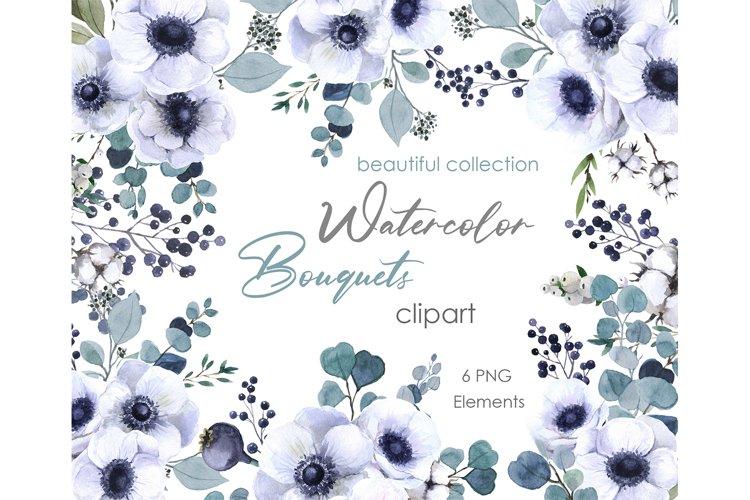 Watercolor clipart Floral digital floral bridal shower